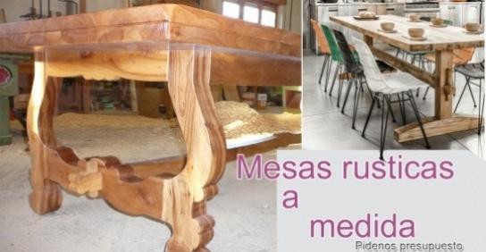 Mesas rusticas a medida