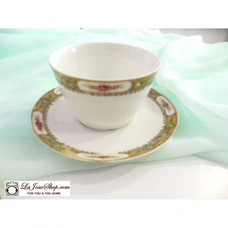 Limoges 3 tazas de cafe con plato de porcelana con historia for Platos porcelana