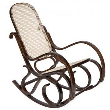 Mecedora  estilo Thonet color nogal