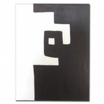 Cuadro abstracto marron y blanco