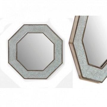 Espejo plata madera mosaico y cristal