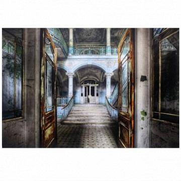 Cuadro salón palacete con Vidrio