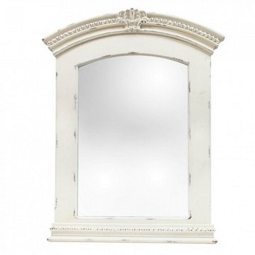 Espejo blanco decapado grande