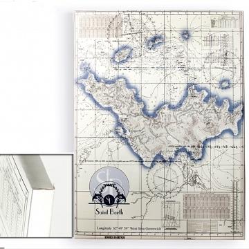 Mapa Carta Náutica para tu pared de 160x120 x3cm