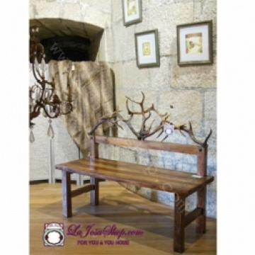 Bench  deer horns  made by hand- Pieza Unica