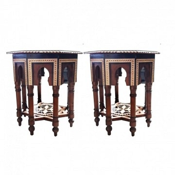 Side Tables, from Granada, Spain, Inslamic Style, 20th Century