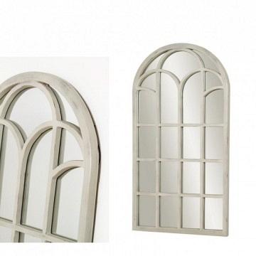 espejo ventana color crema 128 x 66cm