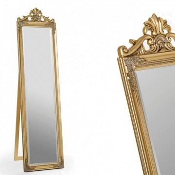 Espejo vestidor dorado