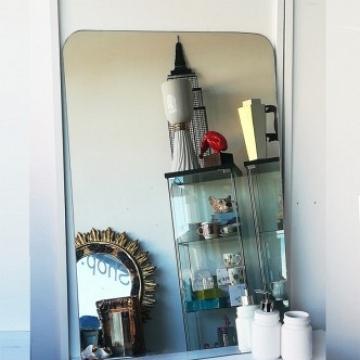 Minimalist vintage mirror without frame