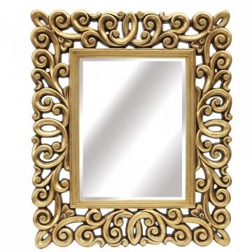 Espejo rectangular lacado oro