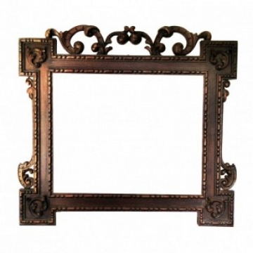 Large Frame Walnut Caved, Victorian