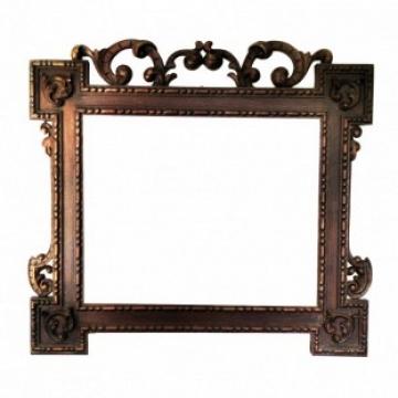 Large Frame Walnut Caved, Victorian