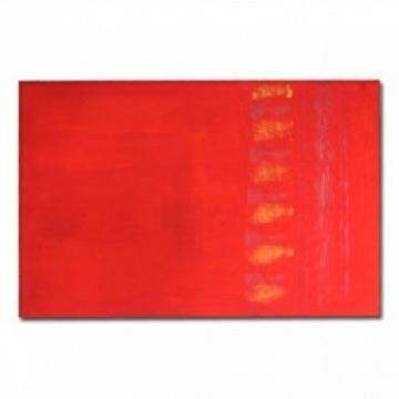 Cuadro Rojo en acrílico sobre tela