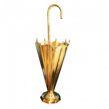 Mid Century Brass Stand in the Form Umbrella, Italia 50s