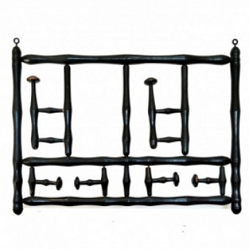 Coat Rack, Foldable Wood Ebonized 19th Century