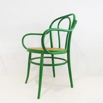 4 Sillas verdes estilo thonet .Vintage