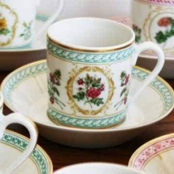 Empress Josephine Demitasse Collection by HAVILAND Bone china Limoges