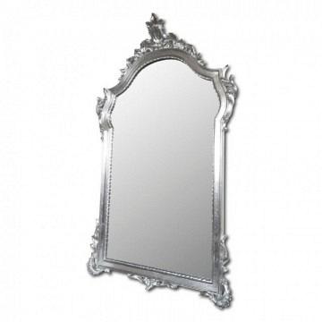 espejo con cornucopia plata resina 61x104..