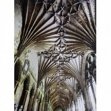 Cuadro columnas iglesia gótica