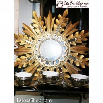Espejo dorado estrella 46 cm