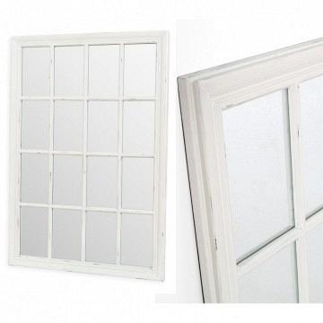 Espejo ventana blanco grande