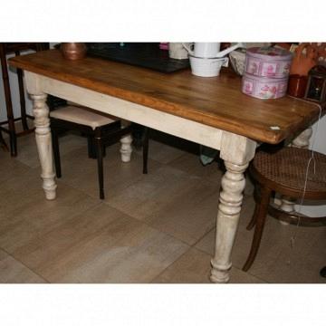 Mesa cocina patas blancas