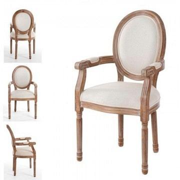 Sillon Luis XVI madera blanco
