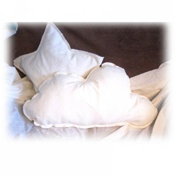 Cojín estrella 50 cm blanco Marfil