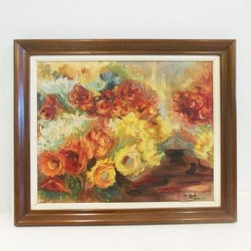 Cuadro al Óleo flores