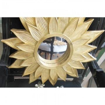 Espejo dorado sol doble