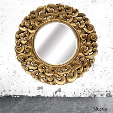 Espejo oriental lacado oro