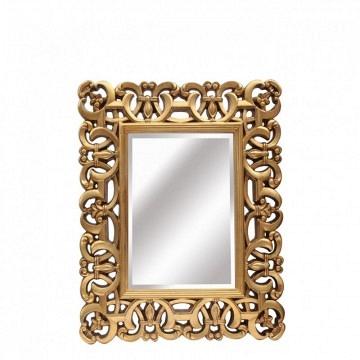 Espejo oro rectangular