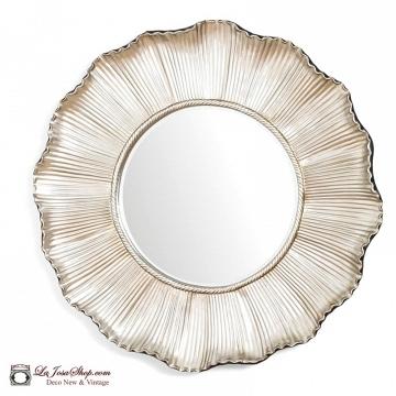 Espejo sol plata grande