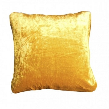 Cojines terciopelo amarillo 45x45 cm