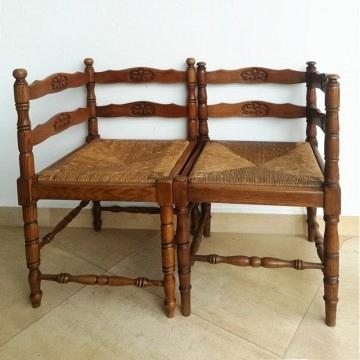 Par sillas Corner francesas