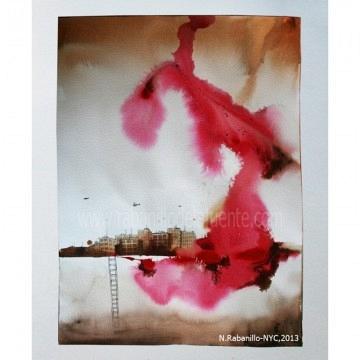 Urban -043 Acrylic on paper