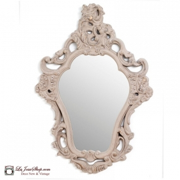 Espejo barroco crema  66x90 cm