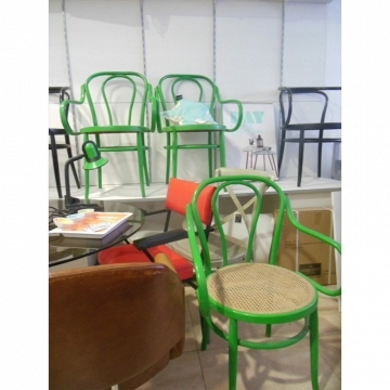 Sillas /  sillones estilo Thonet vintage color verde
