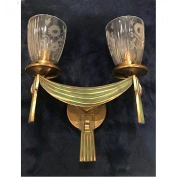 Aplique Art Deco de bronce