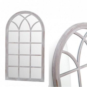 Espejo ventana grande gris 140x80
