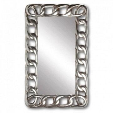Espejo plata rectangular cadena