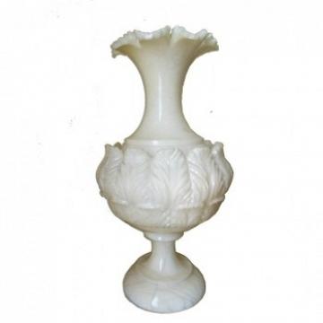 Lampara italiana de alabastro blanco iluminada interiormente