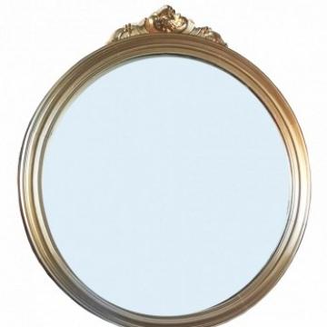 Espejo Luis XVI dorado de madera 95 cm