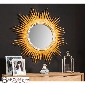 Espejo sol oro grande