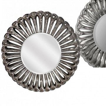 Espejo resina  plata brillo 91x91 cm