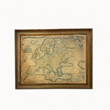Antique Map of Europe Framed