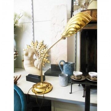 Lámpara tipo flexo de latón antigua Art Deco