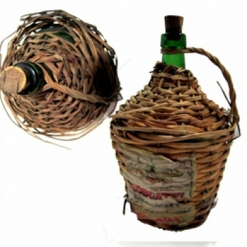 Autentica garrafa de moscatel Vintage 28-22 cm