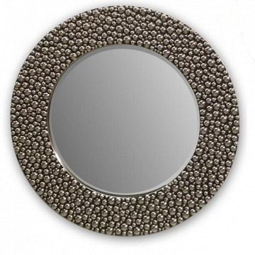 Espejo redondo plata grande