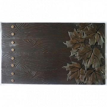 Felpudo marrón  puerta rustica 75x45cm